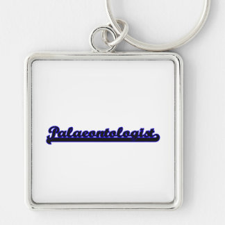 Palaeontologist Classic Job Design Silver-Colored Square Key Ring