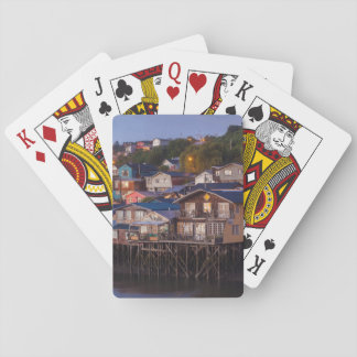 Palafito stilt houses, elevated view playing cards