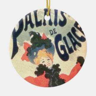 Palais de Glace, Champs Elysees, Paris, 1894 (colo Round Ceramic Decoration