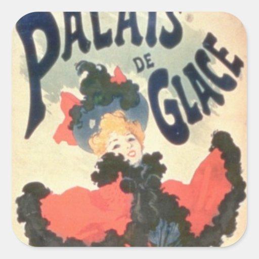Palais de Glace, Champs Elysees, Paris, 1894 (colo Square Stickers