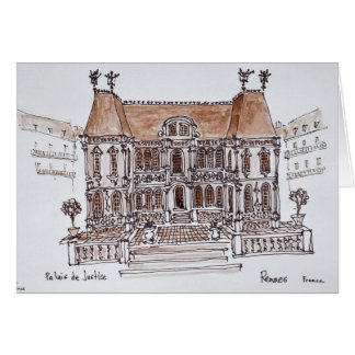 Palais de Justice Courthouse | Rennes, Brittany Card