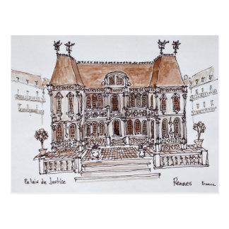 Palais de Justice Courthouse | Rennes, Brittany Postcard
