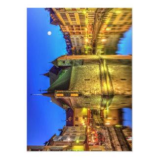Palais de l'Ile jail in Annecy old city, France 14 Cm X 19 Cm Invitation Card