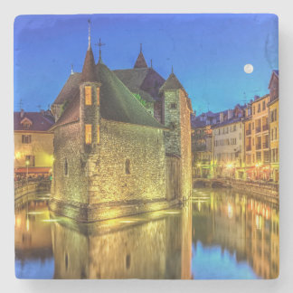 Palais de l'Ile jail in Annecy old city, France Stone Coaster