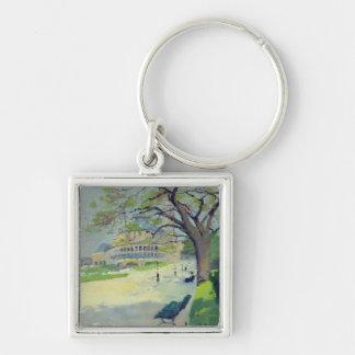 Palais du Trocadero Silver-Colored Square Key Ring
