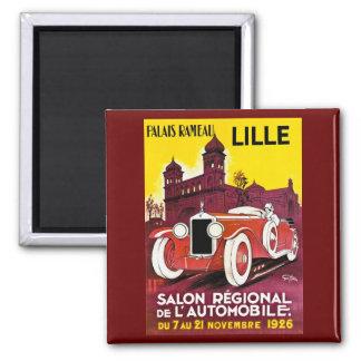 Palais Rameau - Lille - Automobile Ad - 1926 Square Magnet