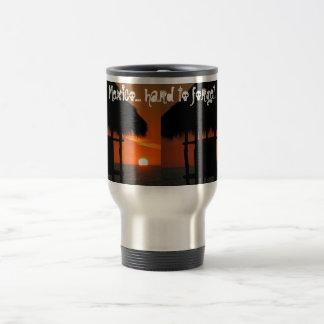 Palapa at Sunset; Mexico Souvenir Stainless Steel Travel Mug
