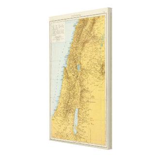 Palastina - Palestine Atlas Map Canvas Print