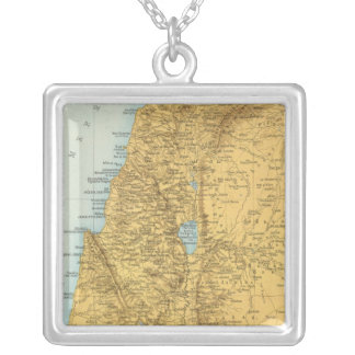 Palastina - Palestine Atlas Map Silver Plated Necklace