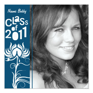 Palatial Lush 2011 Navy Blue Class of 2011 Invite