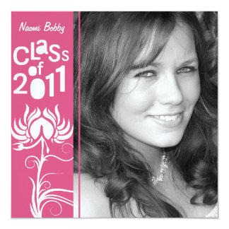 Palatial Lush 2011 Pink Class of 2011 Invite