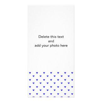 Palatinate Blue Glitter Hearts Pattern Picture Card
