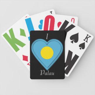 Palau flag bicycle playing cards