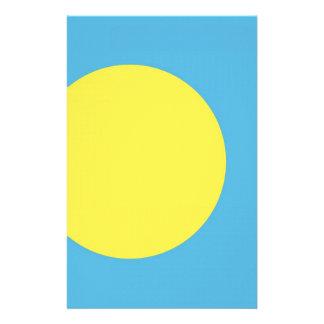 Palau flag customised stationery