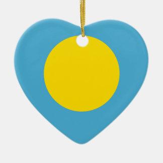 Palau Flag Heart Ceramic Heart Decoration