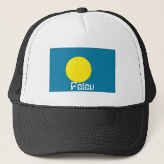 Palau flag trucker mesh souvenir hat