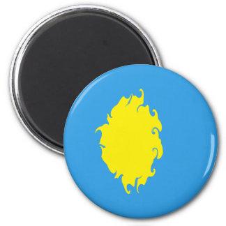Palau Gnarly Flag 6 Cm Round Magnet