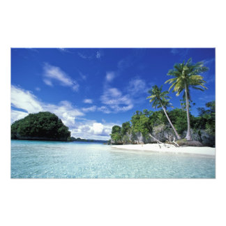 Palau, Rock Islands, Honeymoon Island, World Art Photo