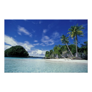 Palau, Rock Islands, Honeymoon Island, World Poster