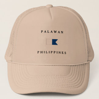 Palawan Philippines Alpha Dive Flag Trucker Hat