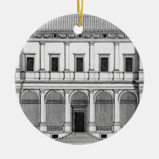 Palazzo Chigi on the Lungara, Rome, from 'Palazzi Christmas Ornament