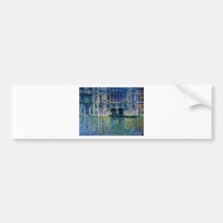 Palazzo da Mula at Venice by Claude Monet Bumper Sticker