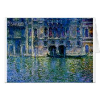 Palazzo da Mula at Venice by Claude Monet Card