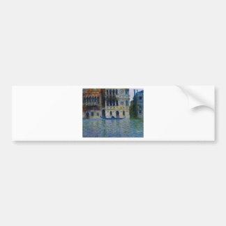 Palazzo Dario by Claude Monet Bumper Sticker