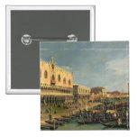 Palazzo Ducale and the Riva degli Schiavoni, Venic 15 Cm Square Badge