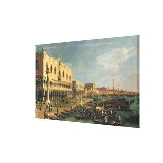 Palazzo Ducale and the Riva degli Schiavoni, Venic Stretched Canvas Print