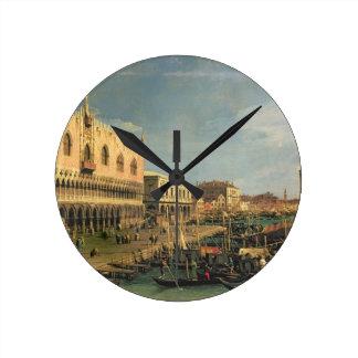 Palazzo Ducale and the Riva degli Schiavoni, Venic Round Clock
