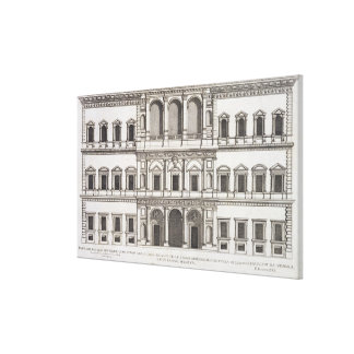 Palazzo Farnese, from 'Palazzi di Roma', part I, p Stretched Canvas Print