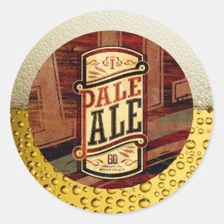 PALE ALE. ROUND STICKER