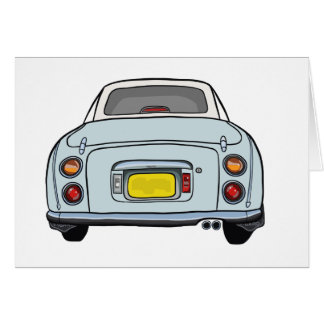 Pale Aqua Blue Nissan Figaro Greeting Card