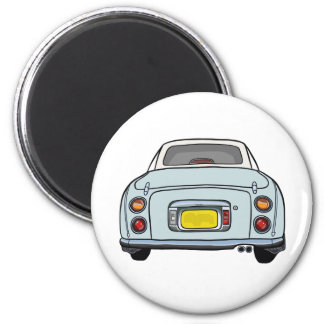 Pale Aqua Figaro Car Magnet