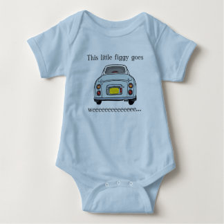 Pale Aqua Nissan Figaro Baby Romper Baby Bodysuit