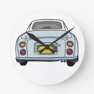 Pale Aqua Nissan Figaro Car Clock