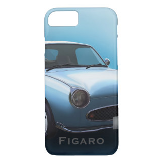Pale Aqua Nissan Figaro Car iPhone 8/7 Case