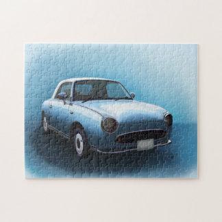 Pale Aqua Nissan Figaro Car Jigsaw Jigsaw Puzzle