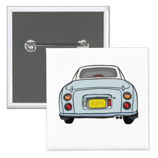 Pale Aqua Nissan Figaro Car Pin Button