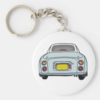 Pale Aqua Nissan Figaro Keyring Basic Round Button Key Ring