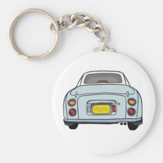Pale Aqua Nissan Figaro Keyring Basic Round Button Key Ring