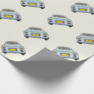 Pale Aqua Nissan Figaro Wrapping Paper