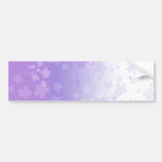 Pale Blossoms Purple Bumper Sticker