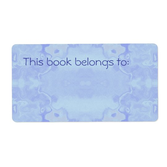 Pale Blue Abstract Simple Bookplate
