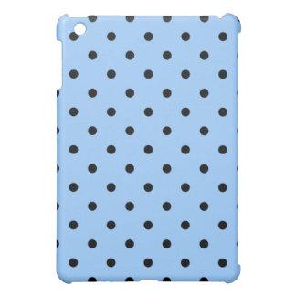 Pale Blue and Black Polka Dot Pern. Case For The iPad Mini