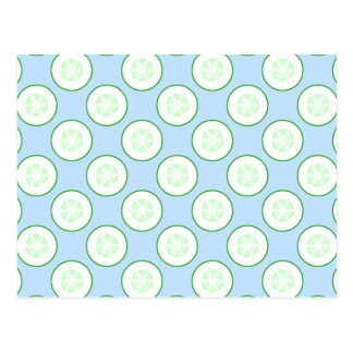 Pale Blue and Green Cucumber Pattern. Postcard
