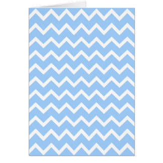 Pale Blue and White Zig zag Stripes. Greeting Cards
