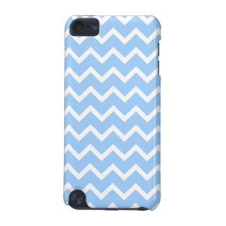 Pale Blue and White Zig zag Stripes. iPod Touch (5th Generation) Cover