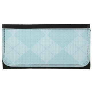 Pale-Blue-Argyle-Wallet's-Multi-Styles Leather Wallets